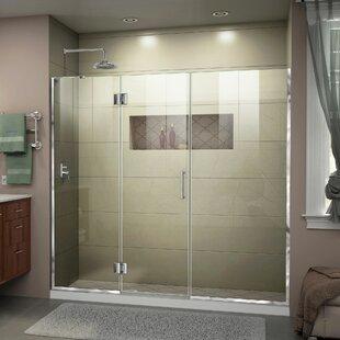 DreamLine Unidoor-X 72 1/2-73 in. W x 72 in. H Frameless Hinged Shower Door