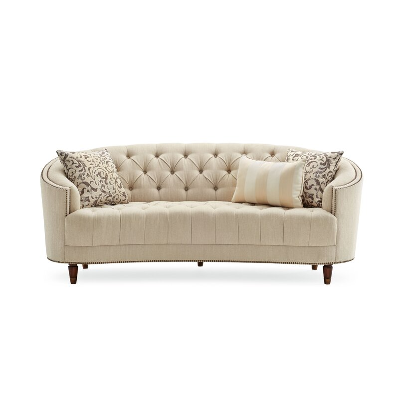 Curved Sofas Living Room: Darby Home Co Frederic Tufted Curved Sofa & Reviews