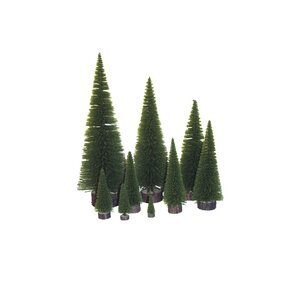 Village Flocked 1.33u0027 Moss Green Pine Tree Artificial Christmas Tree