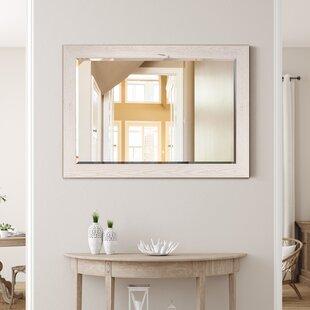White Faux Bamboo Mirror Wayfair