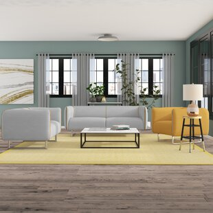 Shop for Alivia 3 Piece Living Room Set by Ivy Bronx Reviews (2019) & Buyer's Guide