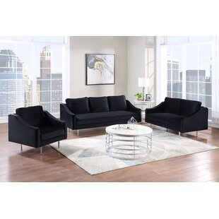 3 Piece Sofa Set Morden Style Couch Furniture Upholstered Armchair, Loveseat And Three Seat For Home Or Office (1+2+3 Seat) by Mercer41