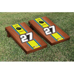Victory Tailgate NASCAR #27 Paul Menard Rosewood Stained Stripe Version Cornhole Game Set