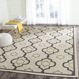 Malin Beige/Black Indoor/Outdoor Area Rug