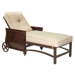 Leona French Quarter Chaise Lounge with Cushion