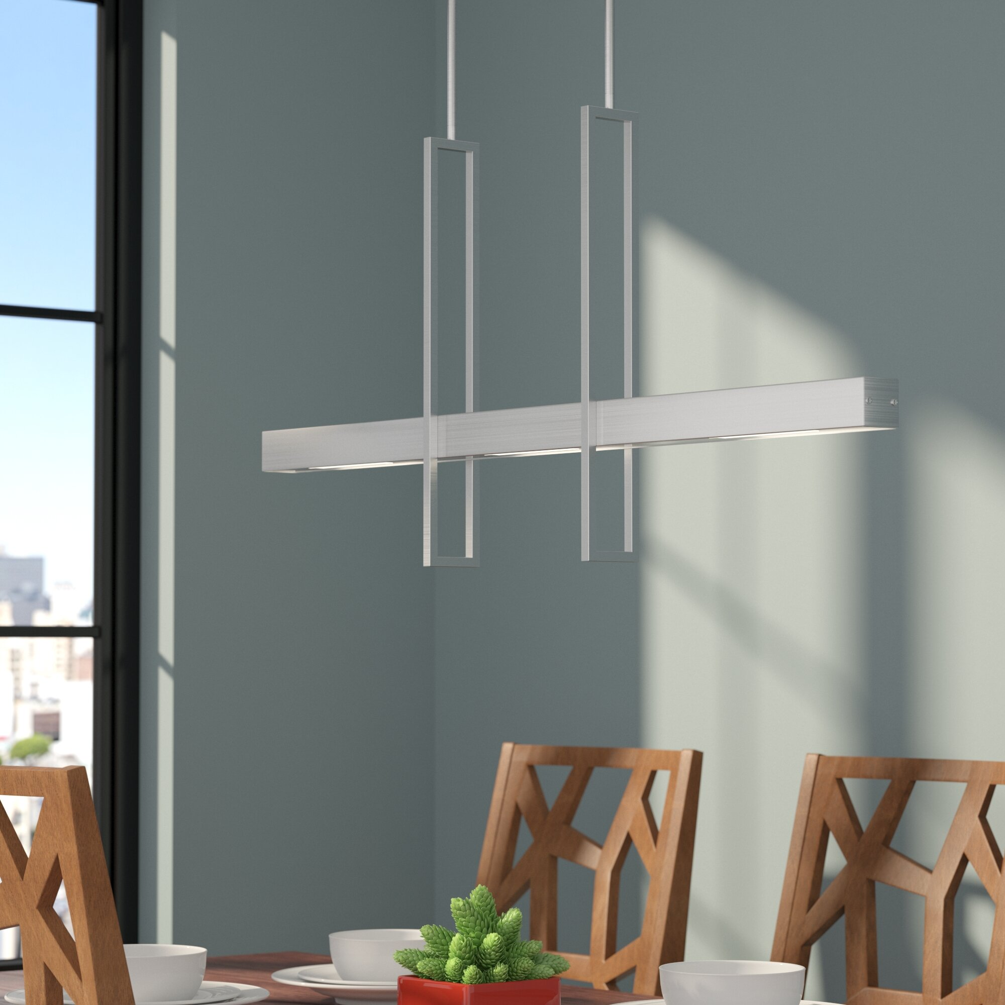 Callington 2 light led kitchen island pendant