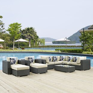 Tripp 10 Piece Sunbrella Sectional Set with Cushions by Brayden Studio