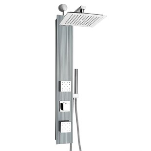 AKDY Rainfall Volume Control Adjustable Head Shower Panel