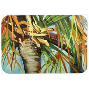 Orange Top Palm Tree Kitchen/Bath Mat