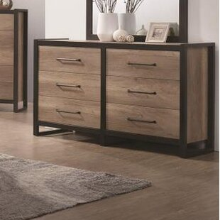 Union Rustic Thedford 6 Drawer Double Dresser