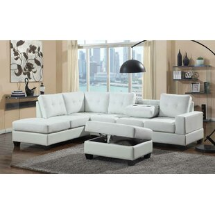 Uecker Reversible Sectional With Ottoman by Red Barrel Studio Great Reviews