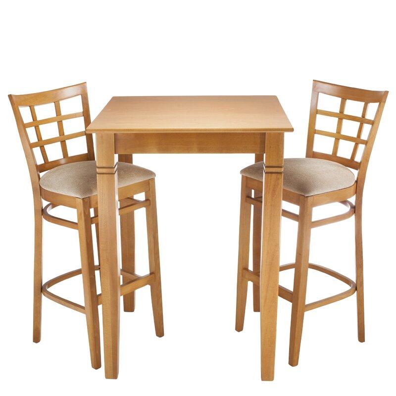 August Grove Laszakovits 3 Piece Pub Table Set