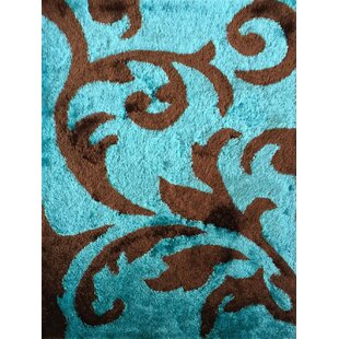 Vinny Hand Knotted Brown Turquoise Area Rug