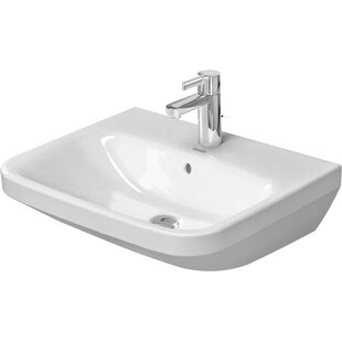 Best Review DuraStyle Ceramic 22 Wall Mount Bathroom Sink with Overflow By Duravit