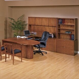 Darby Home Co Lemasters 6-Piece U-Shape Desk Office Suite