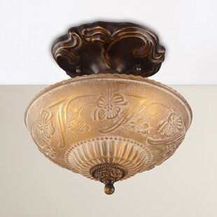 Albreda 3-Light Semi Flush Mount by Fleur De Lis Living
