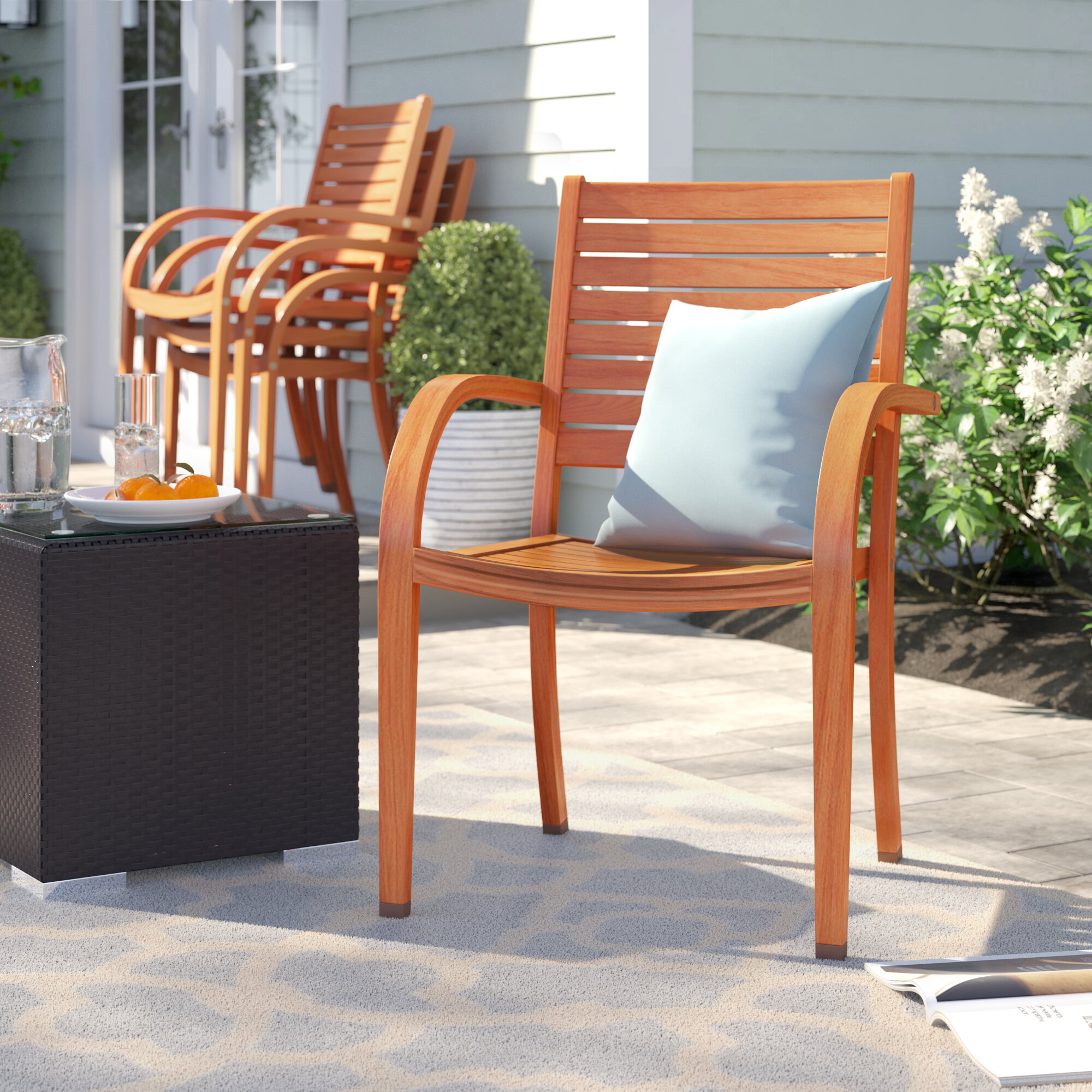 Howard Stacking Patio Dining Chair Reviews Birch Lane