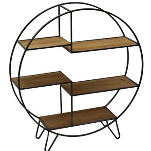 Katherin Shelf 5 Layers Geometric Bookcase