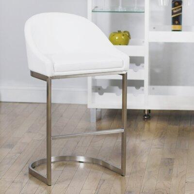Superb Wade Logan 26 Inch Bar Stool Upholstery White Cjindustries Chair Design For Home Cjindustriesco