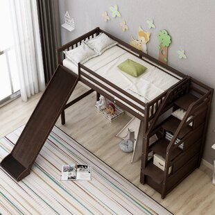 Aryn Twin Low Loft Bed with 3 Drawers