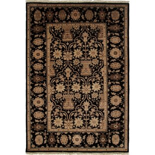 One-of-a-Kind Danbury Hand-Knotted Black Area Rug Isabelline