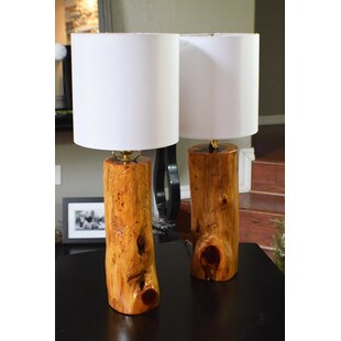 Wayne USA Ozark Made Cedar 24 Table Lamp (Set of 2)