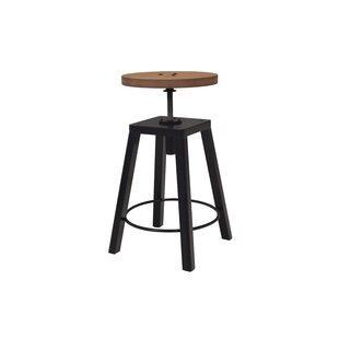 Review Weaubleau Height Adjustable Swivel Bar Stool