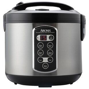 Aroma 20 Cup Stainless Steel Rice Cooker