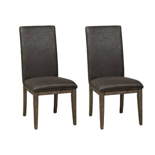 Union Rustic Leavens Upholstered Dining Chair (Set of 2)