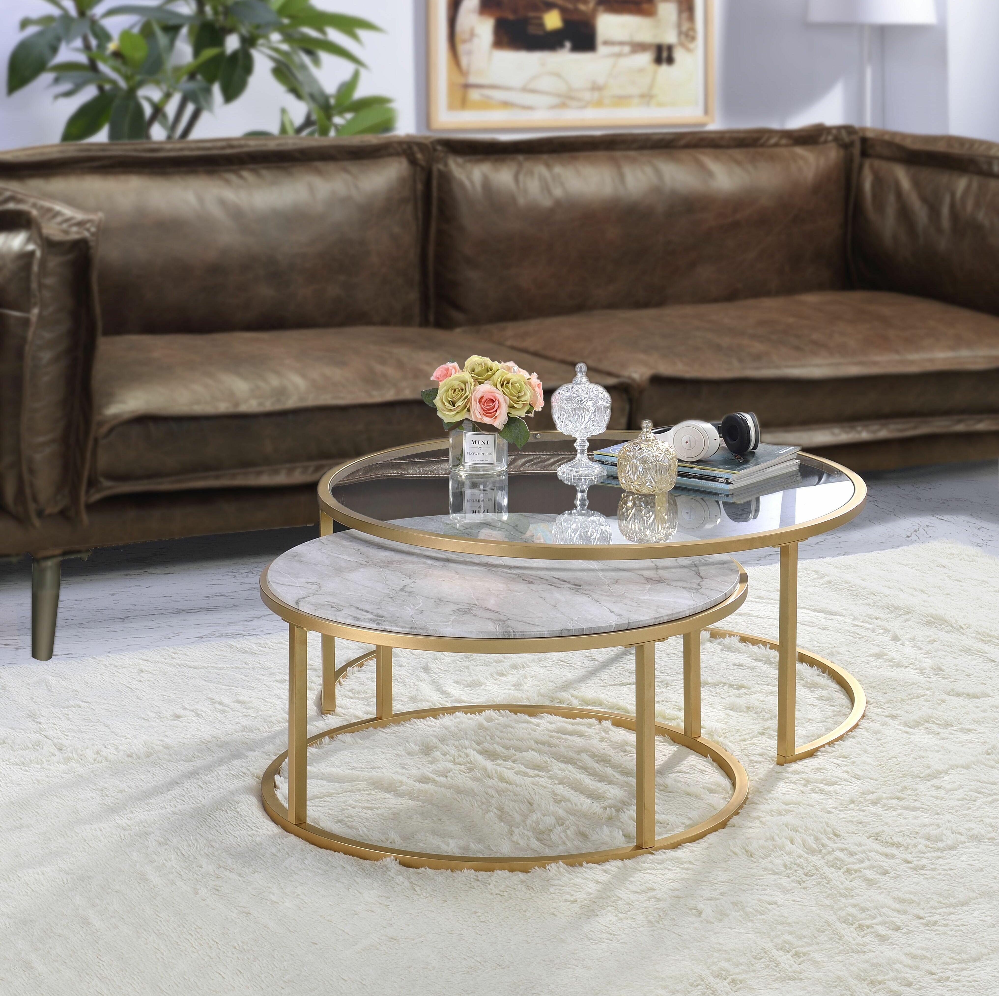 Mercer41 Anyan 2 Piece Coffee Table Set