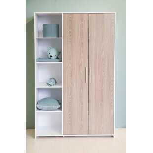 Salcido 2 Door Wardrobe By Mercury Row