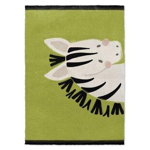 Great choice Allerdale Zebra Black/White/Green Area Rug ByHarriet Bee