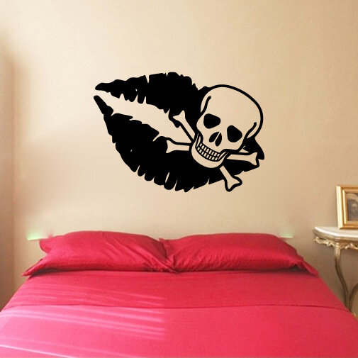 Vinyl Wall Decal Sticker Skull and Crossbones 1171m