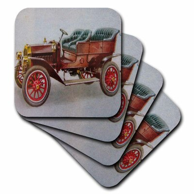 3dRose  Ceramic Tile Coasters - 1908 Buick - set of 4 (cst_7257_3)