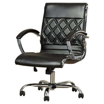 Brayden Studio Camp Mabry Coast Conference Chair Upholstery Color: Black