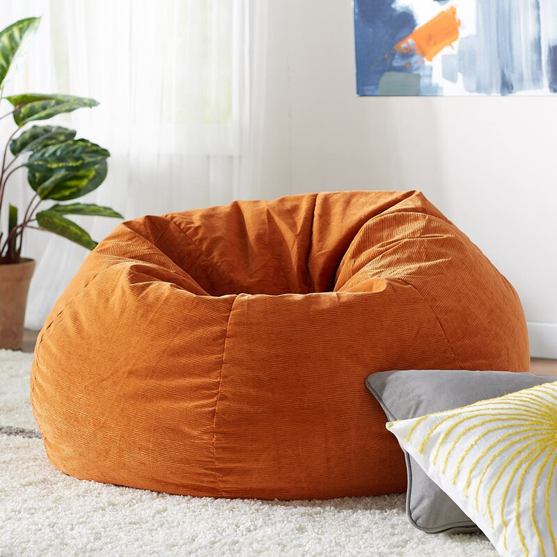 Wondrous Negozio Di Sconti Online Bean Bag Chairs For Children Orange Machost Co Dining Chair Design Ideas Machostcouk