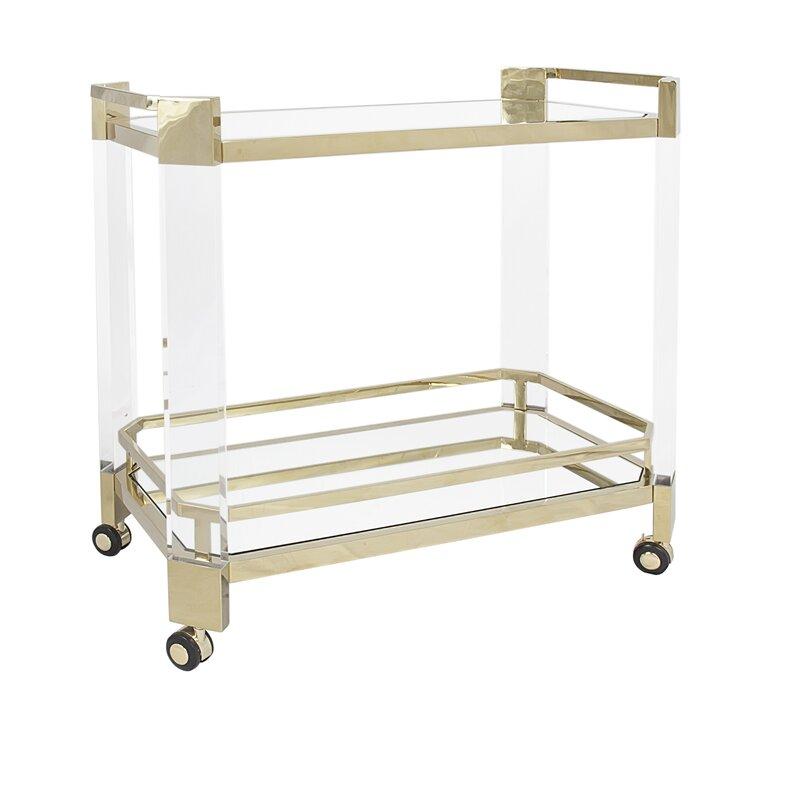 Everly Quinn  Tadcaster Bar Cart