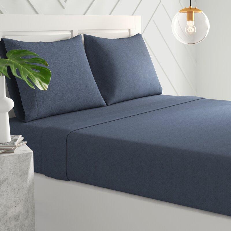 Mercury Row Darrington Extra Soft Solid Color Jersey Knit Sheet Set Reviews Wayfair