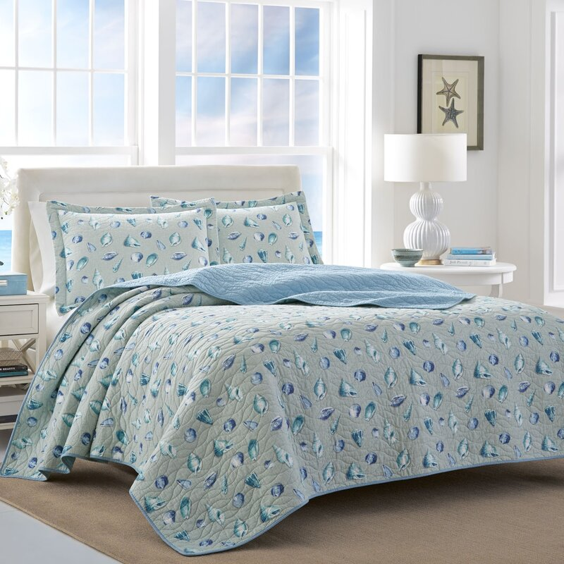 1bf5c9e5248d Laura Ashley Cockatoo Bay 100% Cotton Reversible Quilt Set by Laura Ashley  Home | Wayfair