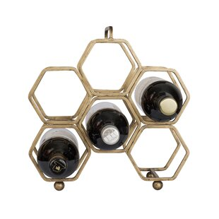 Hexagonal 6 Bottle Tabletop Wine Rack by ..