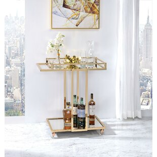 Jeffry Metal Framed Bar Cart by Everly Quinn
