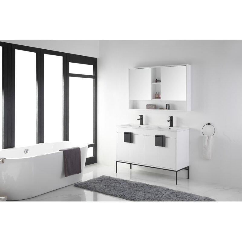Allmodern Lee 48 Double Bathroom Vanity Set Reviews