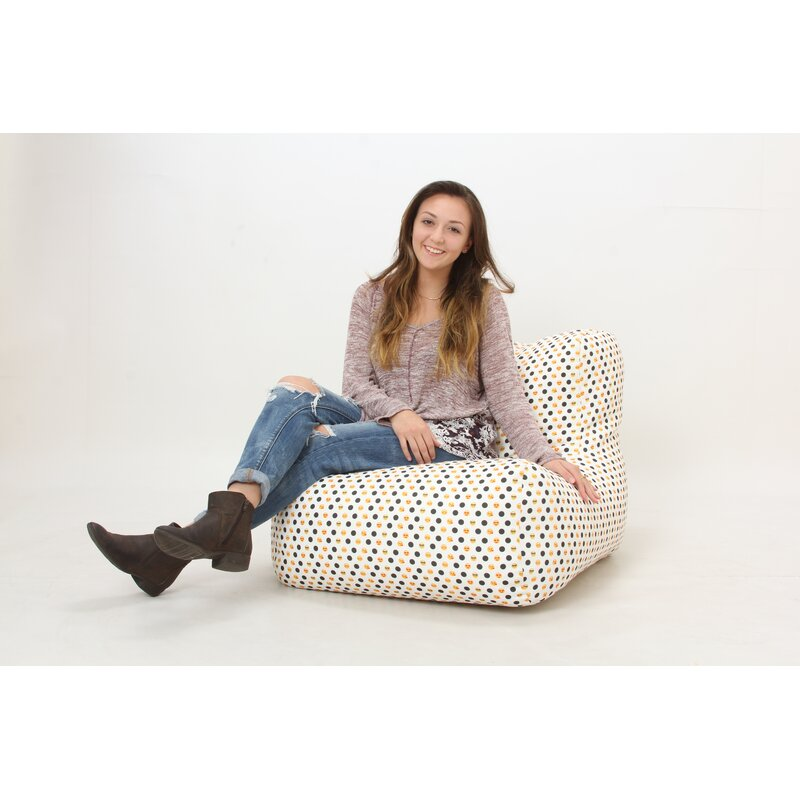 Wow Works Llc Emoji And Polka Dots Bean Bag Chair Wayfair
