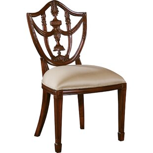 Carved Hepplewhite Shield Back Chair by M..