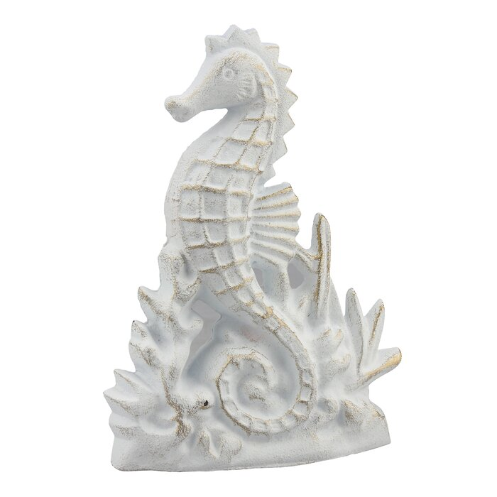 Widcombe Cast Iron Seahorse Weighted Floor Stop