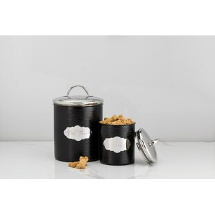 Metal 2 Piece Kitchen Canister Set