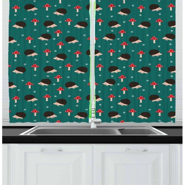 East Urban Home Hedgehog Kitchen Curtain Wayfair