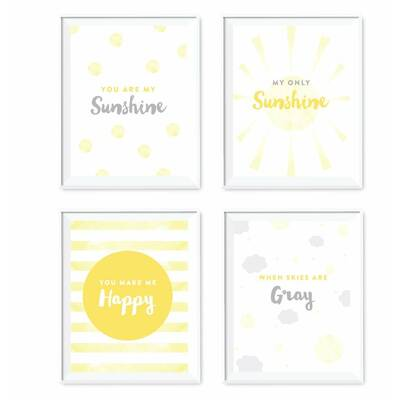 4 Piece You Are My Sunshine Nursery Kids Room Paper