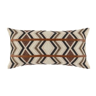 Trower Embroidered Lumbar Pillow