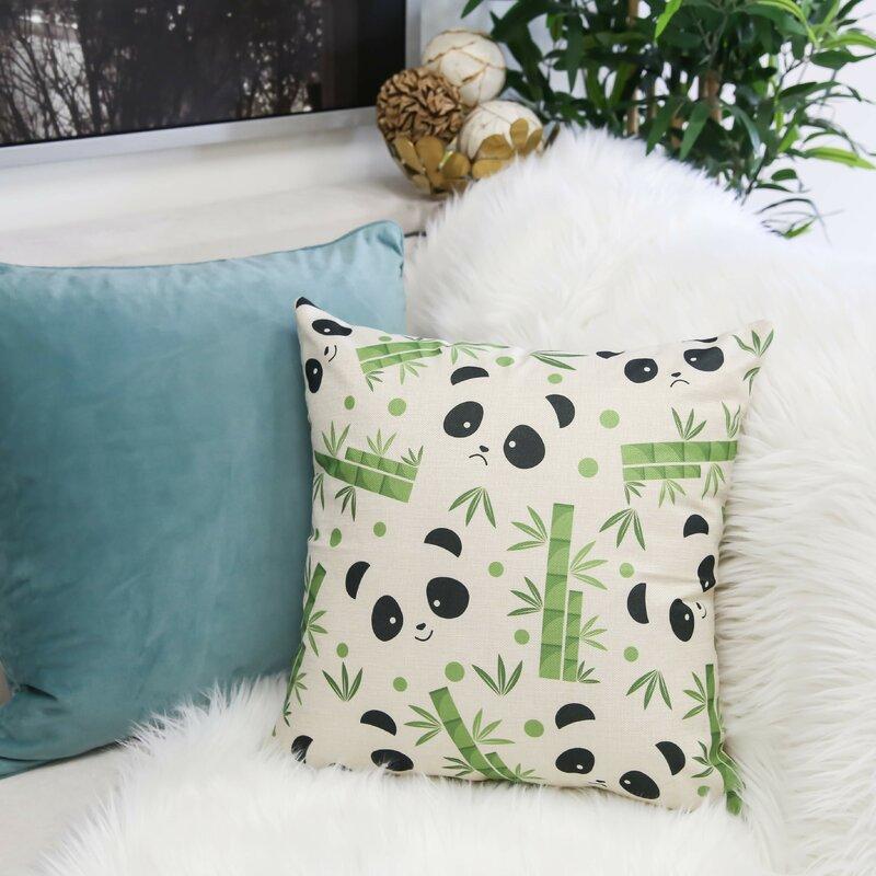 Bayou Breeze Matlock Pandas Indoor Outdoor Throw Pillow Wayfair